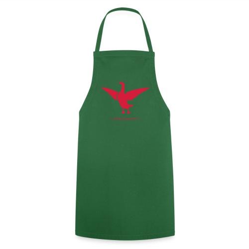 Grillschürze  Kochschürze für den Grillmeister Gänsebrust Gänserich rot - Kochschürze