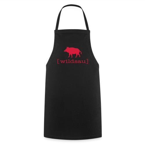 Grillschürze  Kochschürze für den Grillmeister Wildschwein wildsau rot - Kochschürze