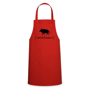 Grillschürze  Kochschürze für den Grillmeister Wildschwein wildsau schwarz - Kochschürze