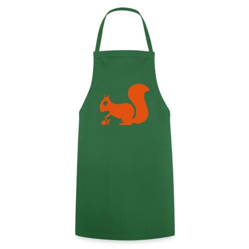 Grillschürze  Kochschürze für den Grillmeister Eichhörnchen orange - Kochschürze