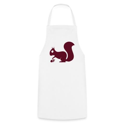 Grillschürze  Kochschürze für den Grillmeister Eichhörnchen burguderrot - Kochschürze