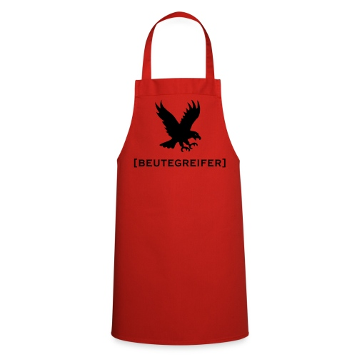 Grillschürze  Kochschürze für den Grillmeister Adler Beutegreifer schwarz - Kochschürze