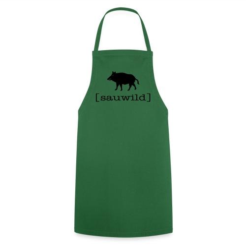 Grillschürze  Kochschürze für den Grillmeister Wildschwein sauwild schwarz - Kochschürze