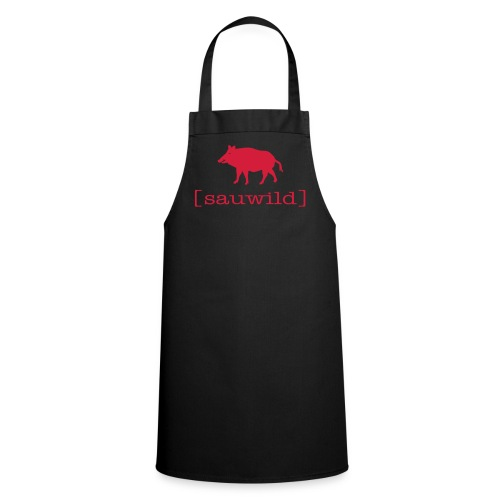 Grillschürze für den Grillmeister Wildschwein sauwild rot - Kochschürze