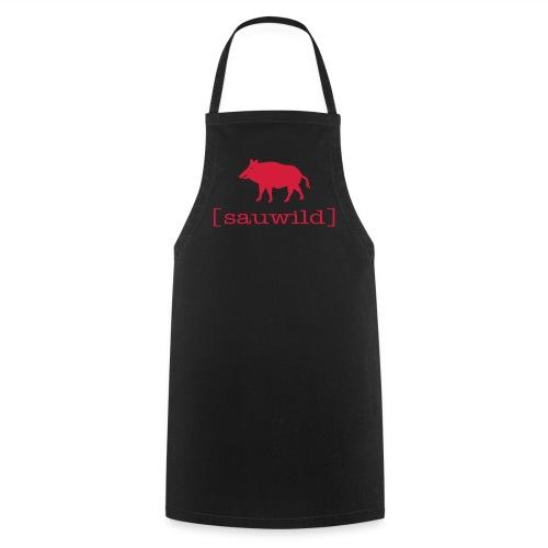 Grillschürze  Kochschürze für den Grillmeister Wildschwein sauwild rot - Kochschürze