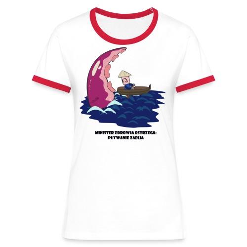 Pływanie zabija 2 - Koszulka damska z kontrastowymi wstawkami