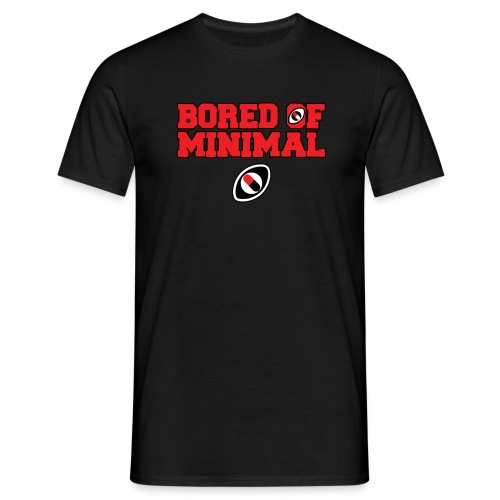 Bored Of Minimal outline red - Men's T-Shirt