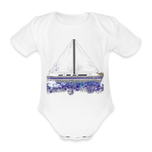 Segelboot - Baby Bio-Kurzarm-Body
