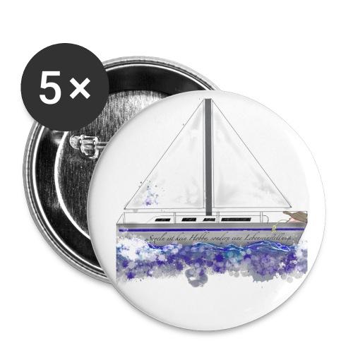 Segelboot - Buttons mittel 32 mm (5er Pack)