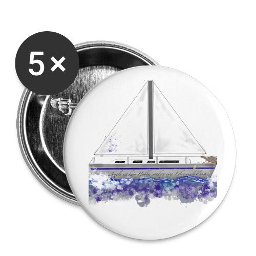 Segelboot - Buttons klein 25 mm (5er Pack)