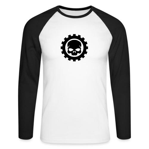 Longarm Shirt Skull Gear - Männer Baseballshirt langarm