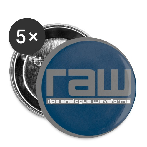 RAW Lable badge - Buttons small 1''/25 mm (5-pack)