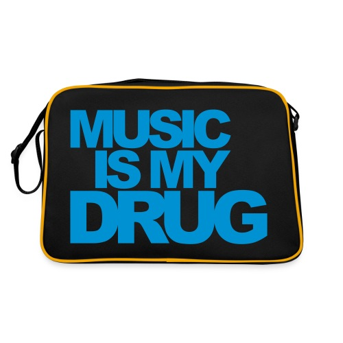 Borsa Music Is My Drug -WooSh- - Borsa retrò