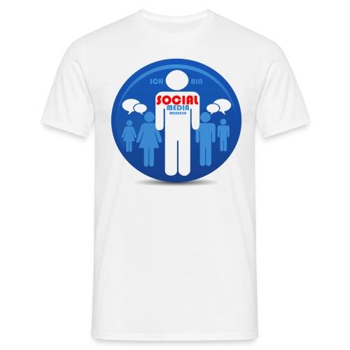 Ich bin SOCIAL Media Manager - Männer T-Shirt