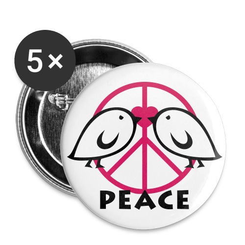 Buttons Peace - Buttons klein 25 mm