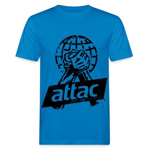 attac_faust_digga1 - Männer Bio-T-Shirt