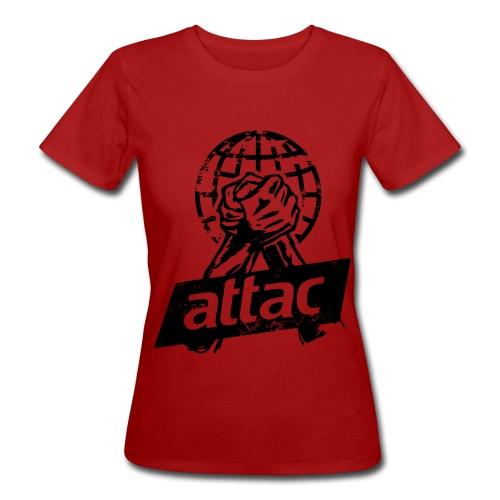 Attac Shirt Welt für Frauen - Frauen Bio-T-Shirt