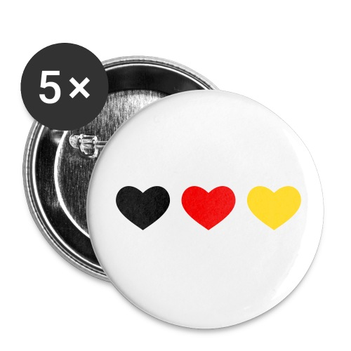 Deutschland Button - Buttons groß 56 mm (5er Pack)