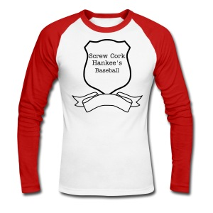 Screw Cork Hankees - Men's Long Sleeve Baseball T-Shirt