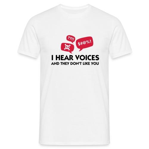 Men's I hear Voices - White - Men's T-Shirt