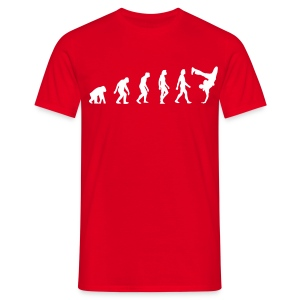 Evolution of Hip Hop (red) - Männer T-Shirt