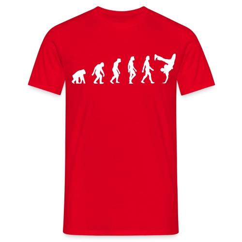 Evolution of Hip Hop (red) - Männer T-Shirt