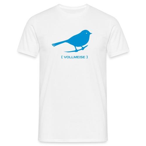Männer Shirt Meise Vogel Vollmeise hellblau Tiershirt Shirt Tiermotiv - Männer T-Shirt