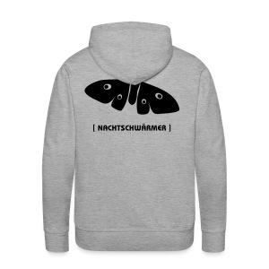 Männer Kapuzenpullover Motte Nachtschwärmer DRUCK HINTEN schwarz Tiershirt Shirt Tiermotiv - Männer Premium Hoodie