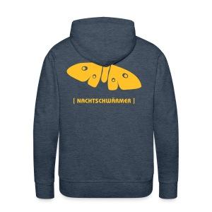Männer Kapuzenpullover Motte Nachtschwärmer DRUCK HINTEN goldgelb - Männer Premium Hoodie