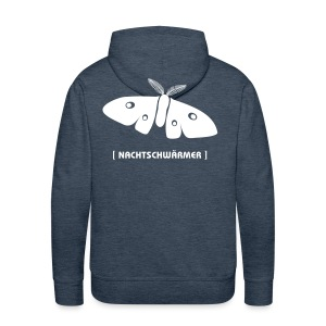 Männer Kapuzenpullover Motte Nachtschwärmer DRUCK HINTEN weiss Tiershirt Shirt Tiermotiv - Männer Premium Hoodie