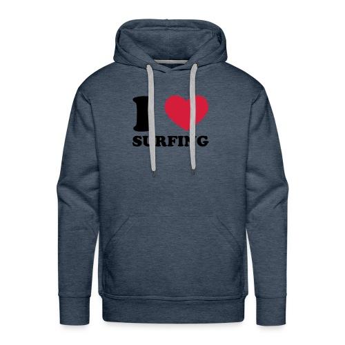 i love surfing - Sweat-shirt à capuche Premium pour hommes