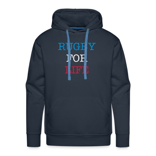 Hoodie Homme Rugby For Life - Sweat-shirt à capuche Premium pour hommes