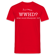 T-Shirts ~ Men's T-Shirt ~ What would @hallymk1 do?