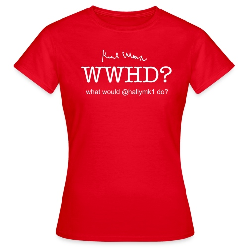 What would @hallymk1 do? - Women's T-Shirt