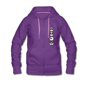 Smiley Kiss Icons (vertikal) - Frauen Premium Kapuzenjacke