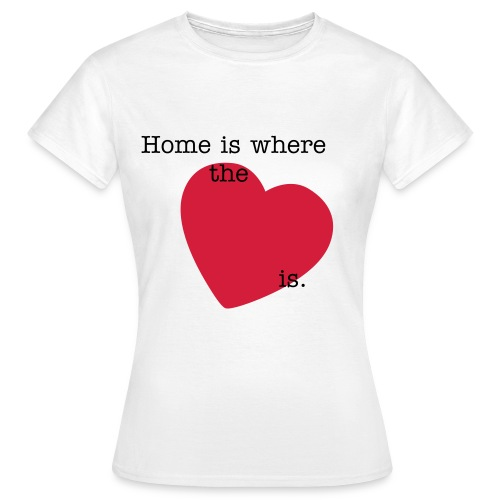 Home is where the heart it - Women's T-Shirt