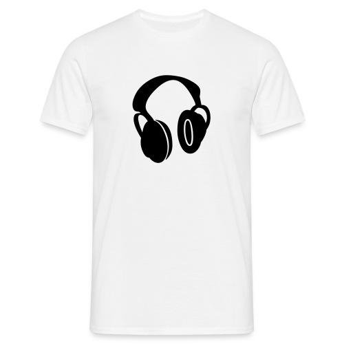 DJ / Headphone / White-Black - Männer T-Shirt