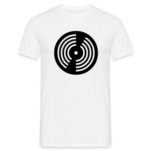 DJ / Record / White-Black - Männer T-Shirt