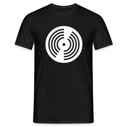 DJ / Record / Black-White - Männer T-Shirt