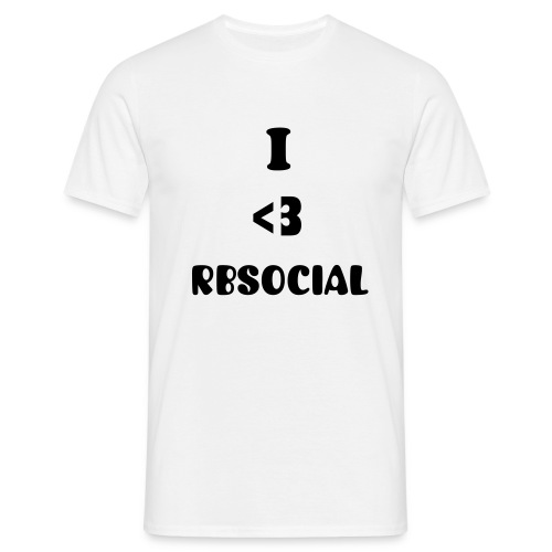 Official White I heart RBSocial T-Shirt - Men's T-Shirt