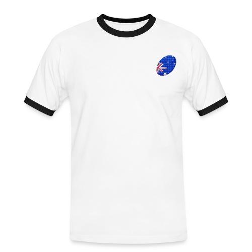 Men's Contrast T-Shirt with Australia rugby ball flag logo - Men's Ringer Shirt