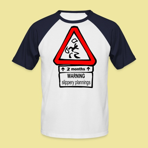 Slippery plannings - T-shirt baseball manches courtes Homme