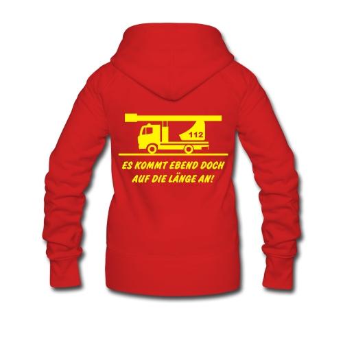 Women Jacke Feuerwehr - Frauen Premium Kapuzenjacke