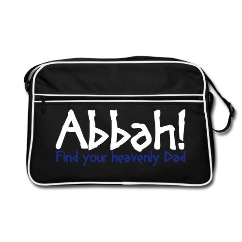Abbah Schriftzug Front - Tasche - Retro Tasche