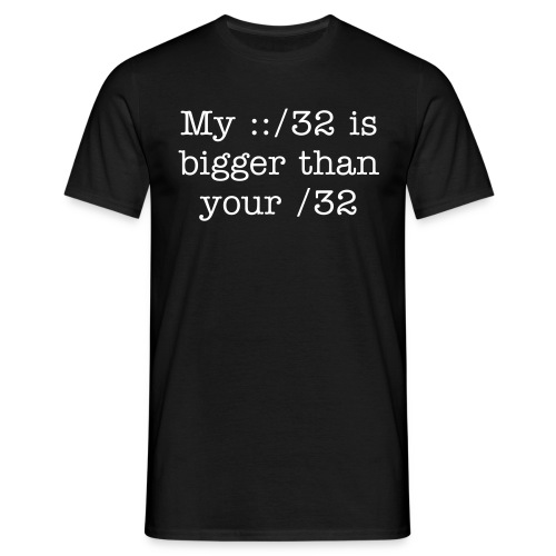 Mine is bigger than yours (Front) - Men's T-Shirt