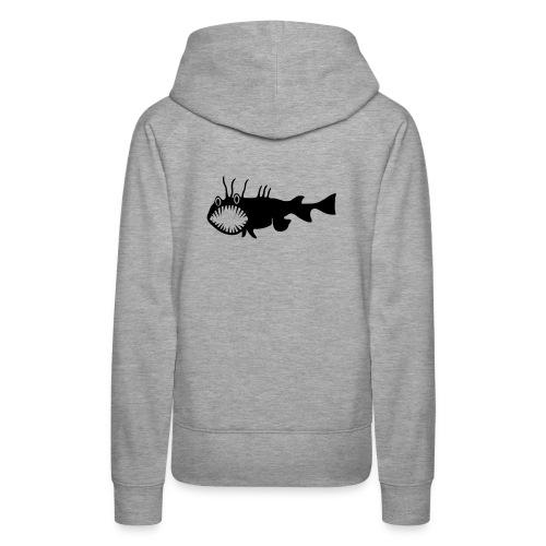 Frauen Kapuzenpullover Fisch Raubfisch Seeteufel schwarz Tiershirt Shirt Tiermotiv - Frauen Premium Hoodie