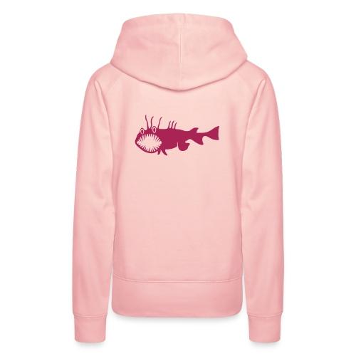 Frauen Kapuzenpullover Fisch Raubfisch Seeteufel pink Tiershirt Shirt Tiermotiv - Frauen Premium Hoodie