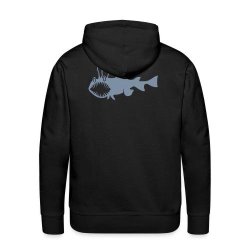 Herren Kapuzenpullover Fisch Raubfisch Seeteufel grau Tiershirt Shirt Tiermotiv - Männer Premium Hoodie