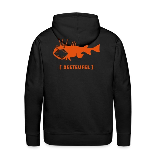 Herren Kapuzenpullover Fisch Raubfisch Seeteufel orange Tiershirt Shirt Tiermotiv - Männer Premium Hoodie