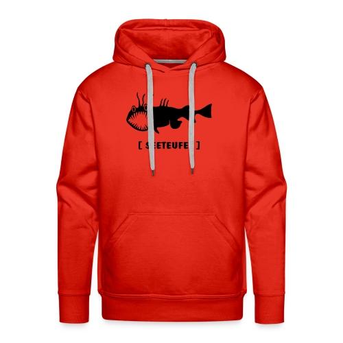 Herren Kapuzenpullover Fisch Raubfisch Seeteufel schwarz Tiershirt Shirt Tiermotiv - Männer Premium Hoodie